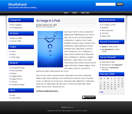 BlueRehash WordPress Theme