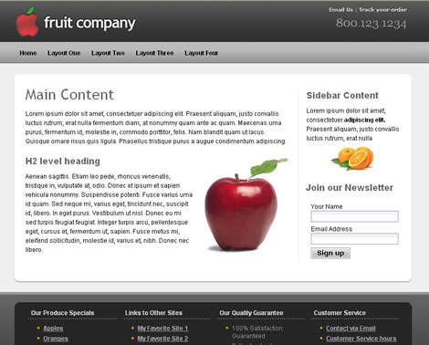 Fruit Company Template